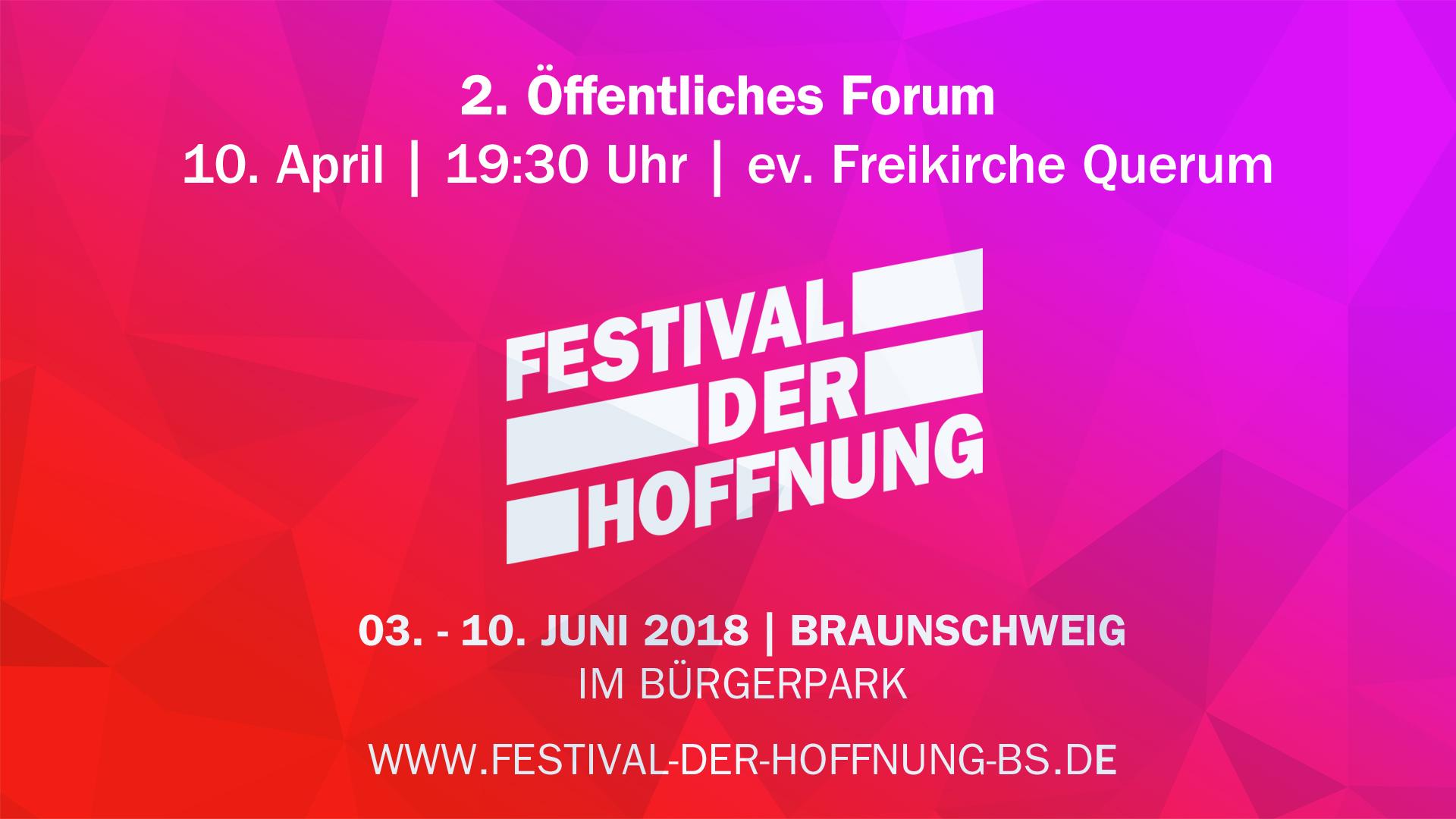 2. Forum zum Festival der Hoffnung