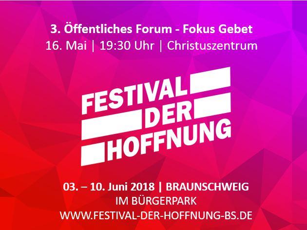 3. Forum zum Festival – Fokus Gebet